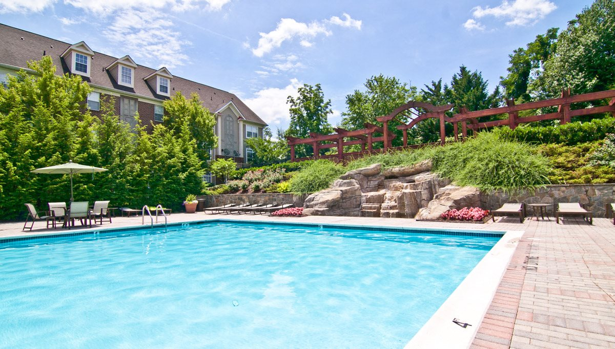 Sparkling Swimming Pool with Lounging Chairs at Woodland Park, Herndon, VA, 20171