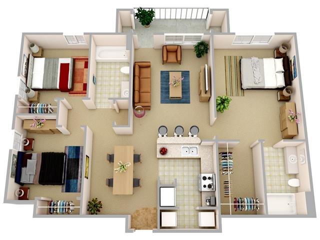 The Tropic Floor Plan 4