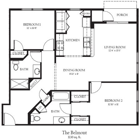 Belmont Floor Plan 12