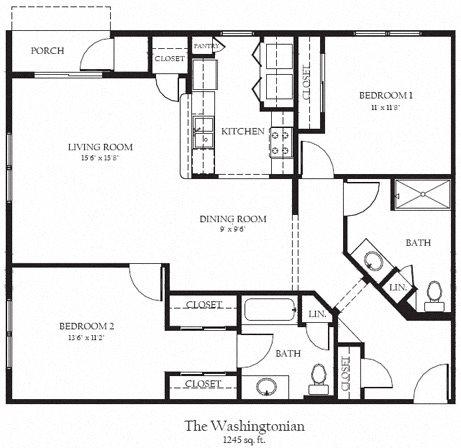 Washingtonian Floor Plan 27