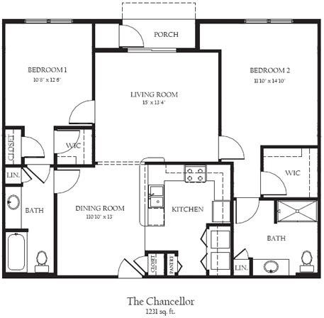 Chancellor R Floor Plan 26