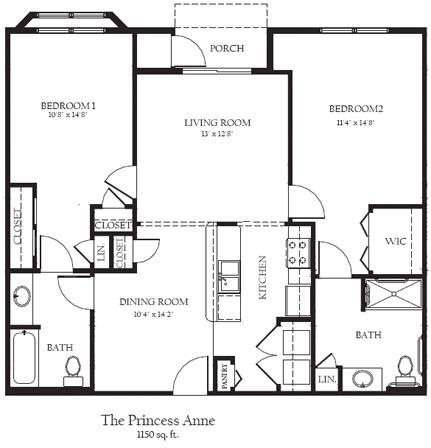 The Princess Ann BF Floor Plan 16