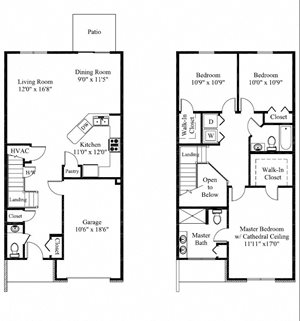 Stonehedge Floor Plan 3 Bed 3 Bath Apartment
