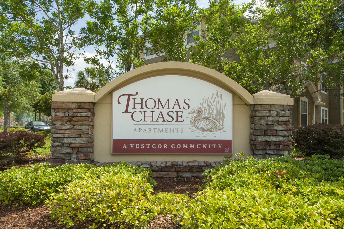 Thomas Chase Apartments Monument Sign