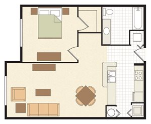 Grande Court Apartments Floor Plan