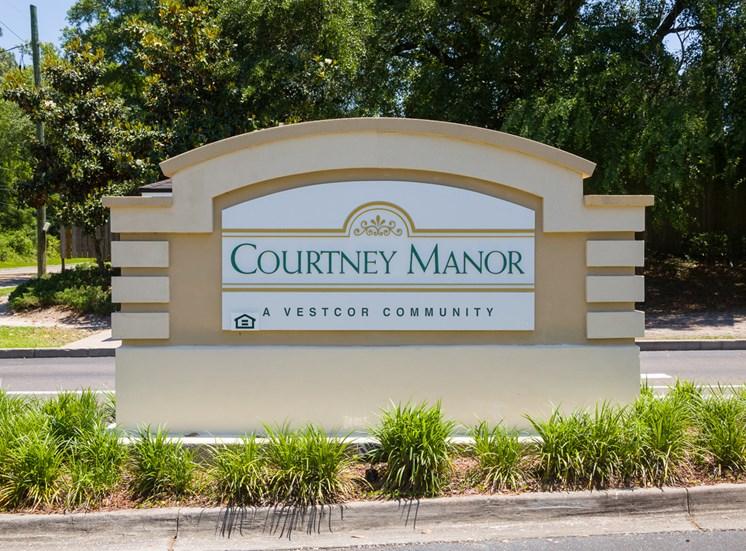 Courtney Manor Sign