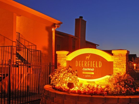Exterior Sign | Apartment Homes in Dallas, TX | Deerfield Apartments