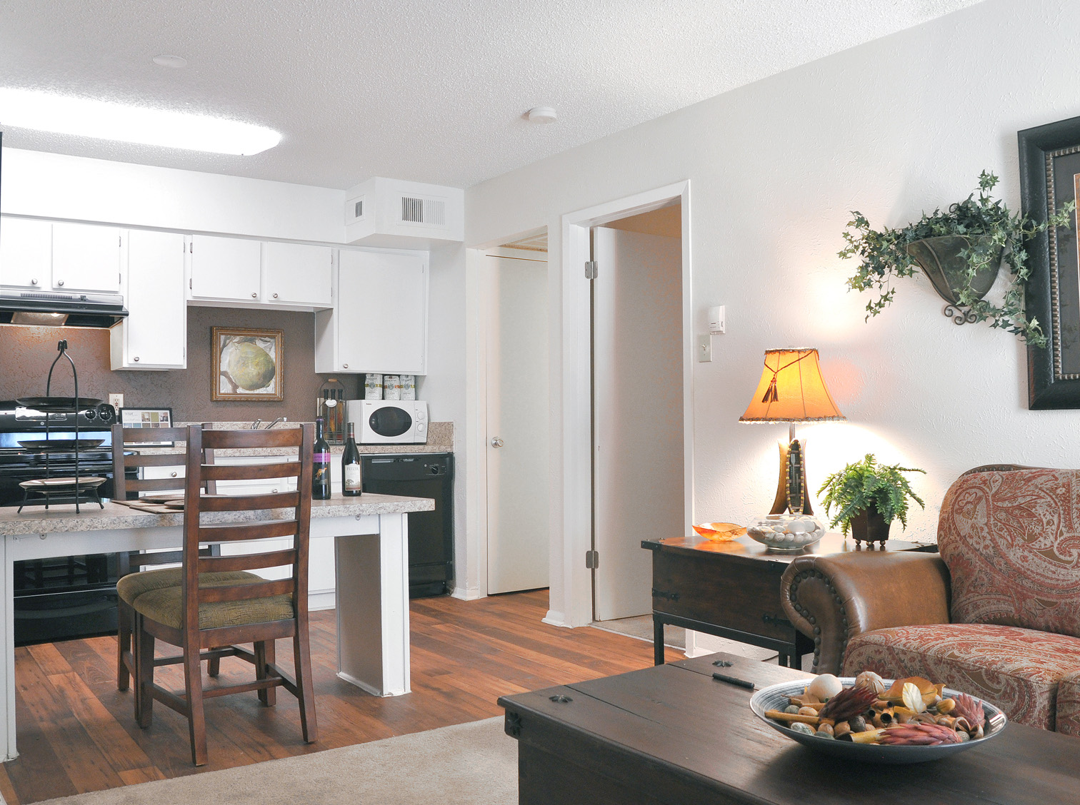Kitchen, Dining & Living Room | Apartment Homes in Dallas, TX | Deerfield Apartments