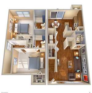 Deerfield Apartments Floor Plans