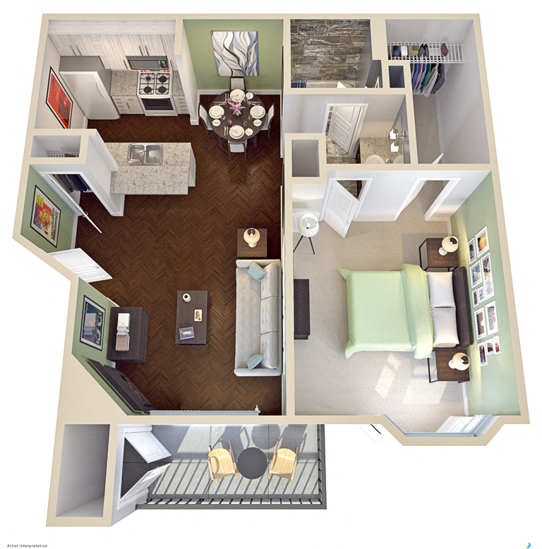 Floor Plans Of Parque At Bellaire In Houston, TX