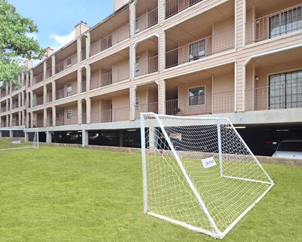 Forest Hills apartments play area and soccer field