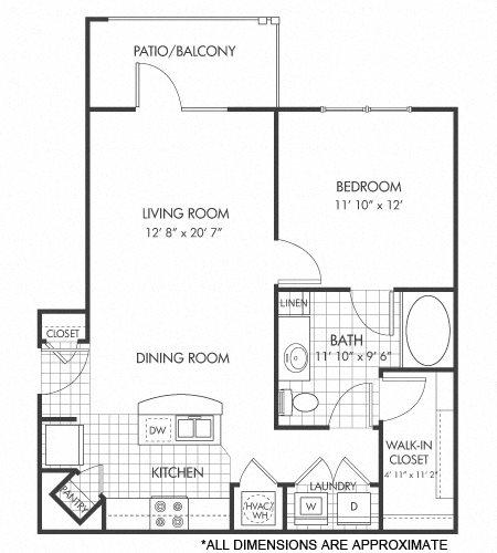 A1 floor plan Floor Plan 1