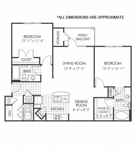B1 (modified ADA floor plan) Floor Plan 5
