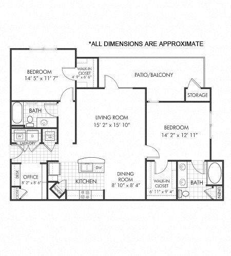 B2 floor plan Floor Plan 6