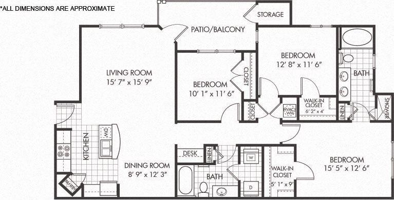 C1 floor plan Floor Plan 7