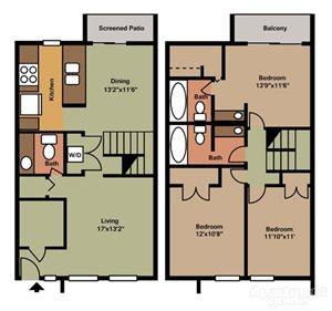3 Bedroom 2.5 Bathroom-Simply Modern