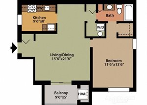Style A 1 Bedroom