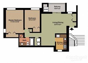 Style E 2 Bedroom