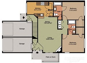 Two Bedroom Style C