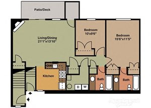 Two Bedroom Style F
