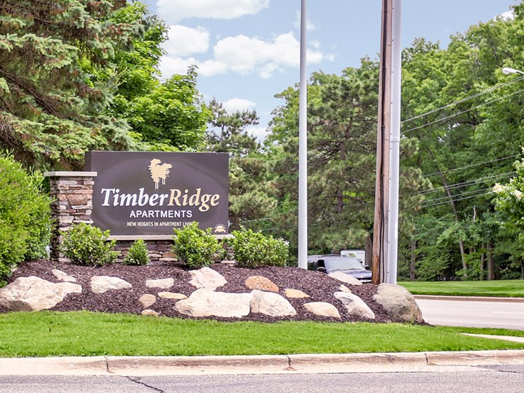 Property Sign for Timber Ridge Apartment Homes in Wyoming MI