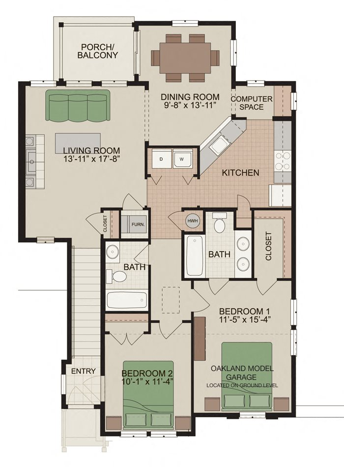 Oakland Floor Plan 5