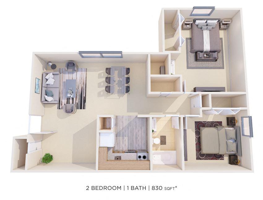 Two Bedroom 1 Bath