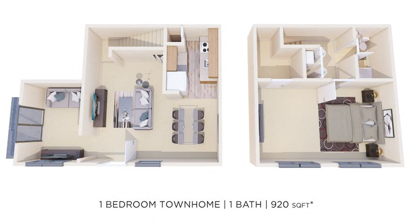 1 Bedroom 1 Bath Den