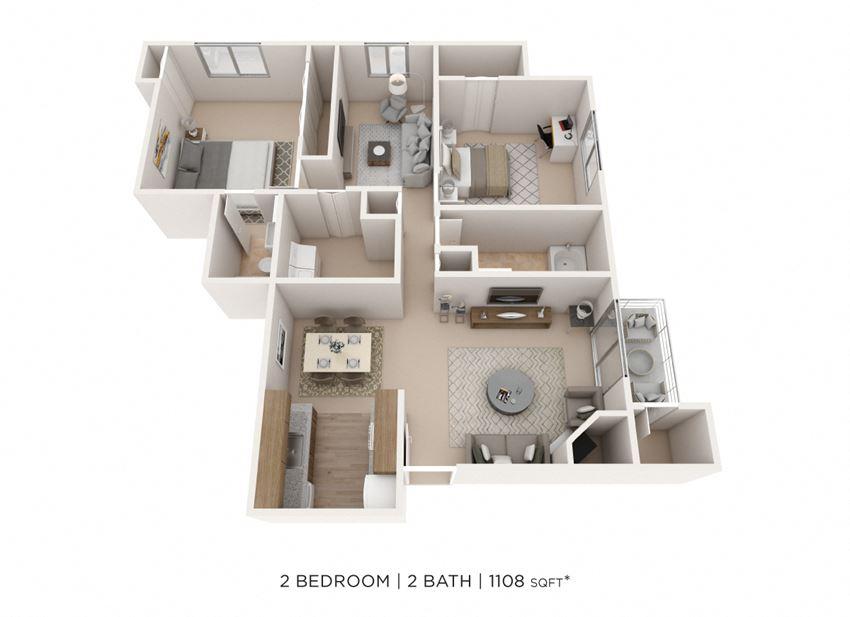 Two Bedroom w/ Den