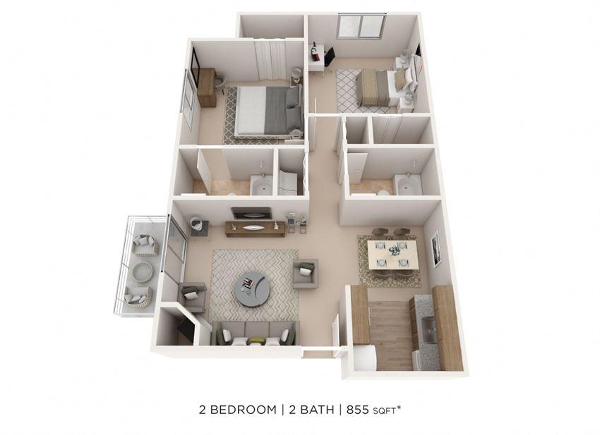 Two Bedroom 2 Bath