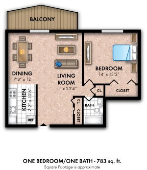 One Bedroom 1 Bath