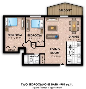 Two Bedroom 1 Bath