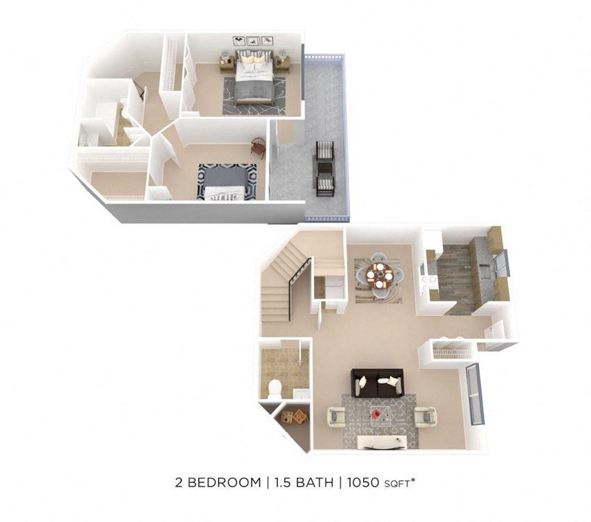 Two Bedroom 1.5 Bath
