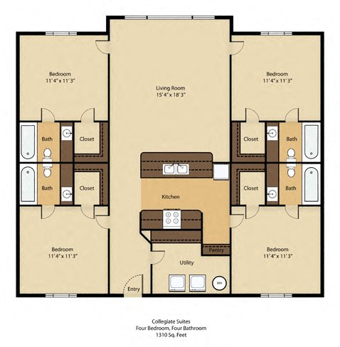 4 Bedroom Luxury with Cathedral Ceilings - SOLD OUT !! Floor Plan 2