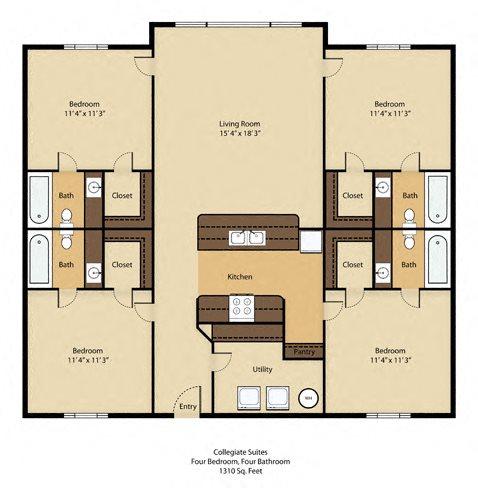 4 Bedroom Luxury - SOLD OUT !! Floor Plan 1