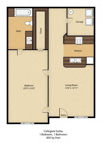 1 Bedroom Basement Suite - SOLD OUT !!! Floor Plan 8