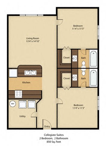2 Bedroom Luxury with Cathedral Ceilings - SOLD OUT !! Floor Plan 6