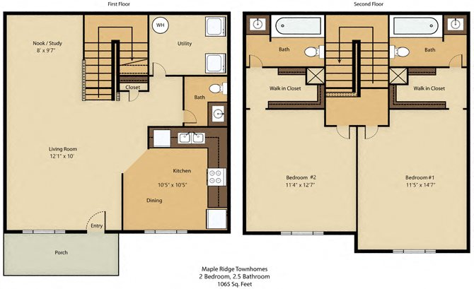 2 Bedroom Deluxe Floor Plan 2