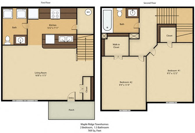 2 Bedroom Luxury Floor Plan 1
