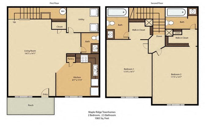 2 Bedroom Premier Floor Plan 3