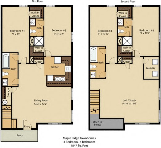4 Bedroom Premier Floor Plan 7