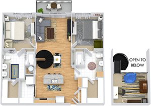 Fairview with Loft 3D