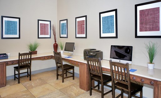 business center | Avesta Capella Apartments in Northside Austin, Tx