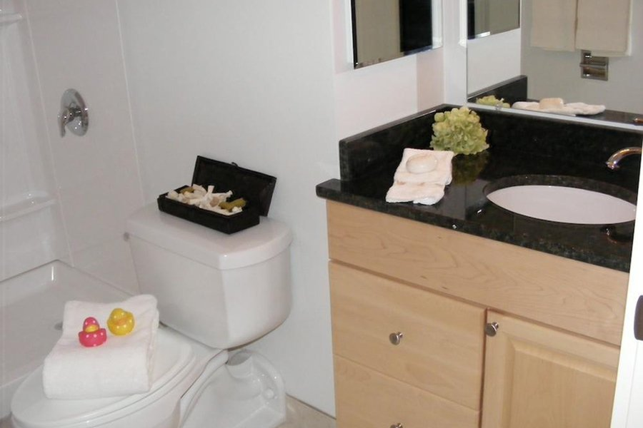 Granite Countertops in all Bathrooms at Summit Terrace, South Portland, ME, 04106