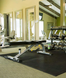 Fitness Center at apartments in Kansas City
