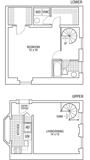 1 Bed 1 Bath - Bi-Level