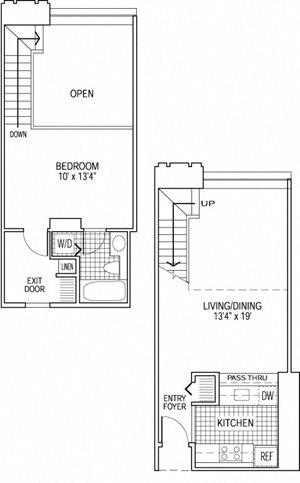 1 Bed 1 Bath - Den - Bi-Level