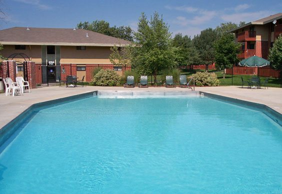 Swimming pool at Grays Lake Apartments in Des Moines, IA