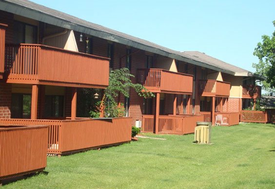 Decks at Grays Lake Apartments in Des Moines, IA