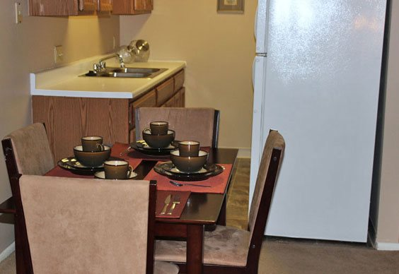 Kitchen at Grays Lake Apartments in Des Moines, IA